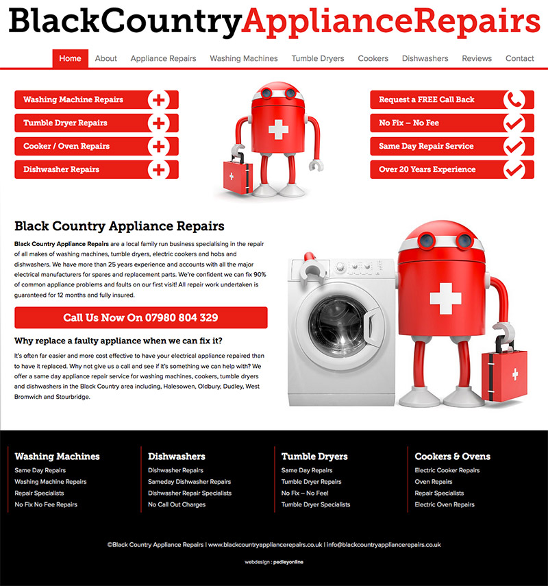 Website for Black Country Appliance Repairs