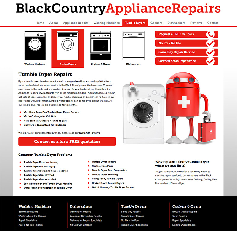 New Website for Black Country Appliance Repairs