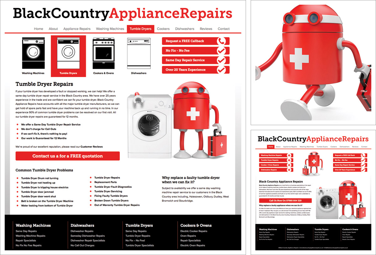 Black Country Appliance Repairs Website