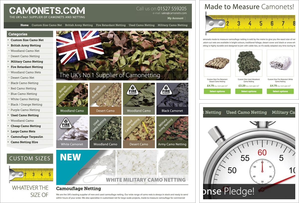 Camonets Website