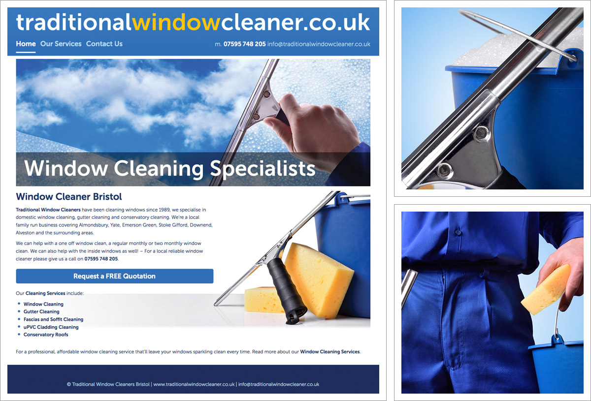 Traditional Window Cleaner Website