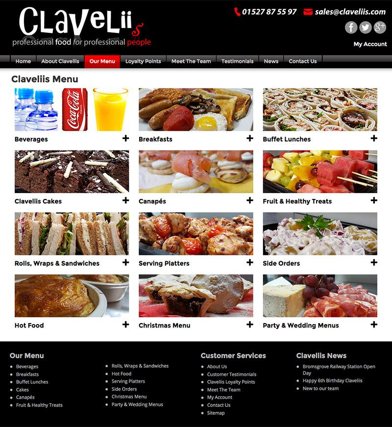 Claveliis WordPress Website