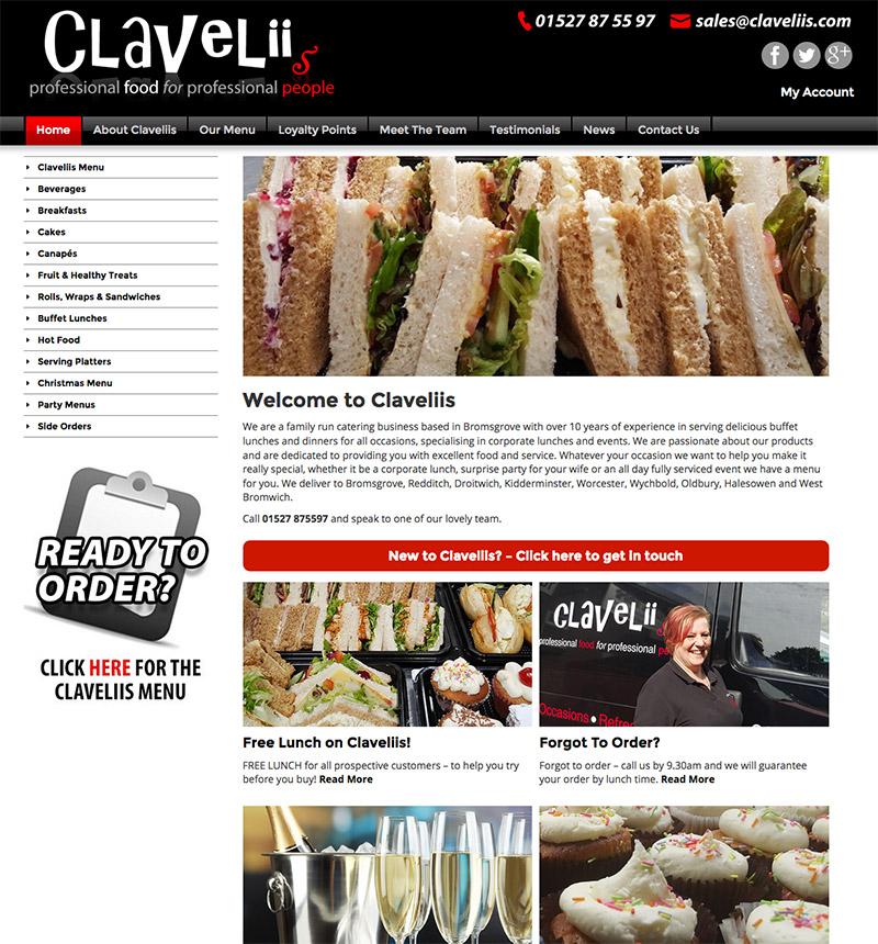 Claveliis Website