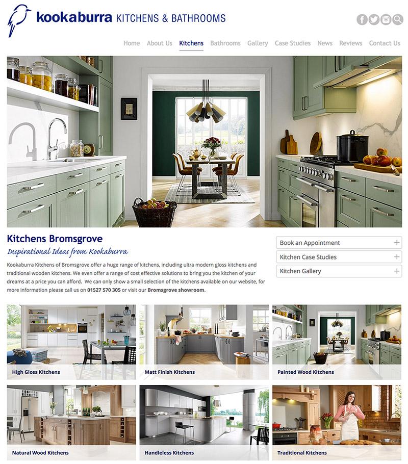 New responsive website for Kookaburra Kitchens Bromsgrove