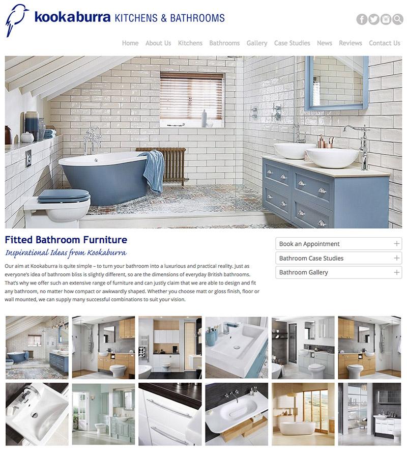 Bathroom company website design