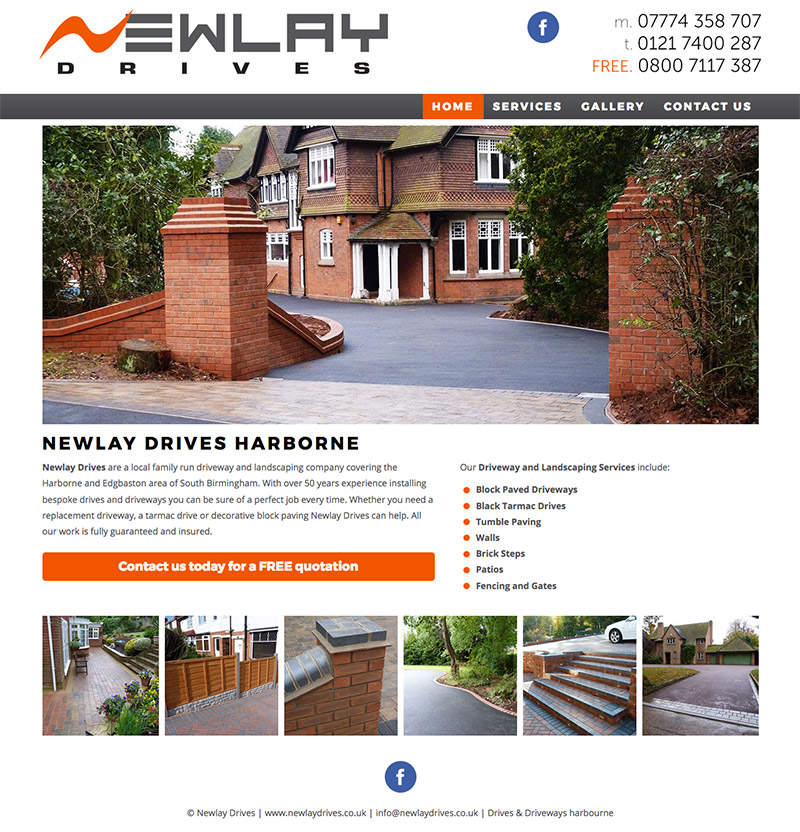 Newlay Drives Harborne Website