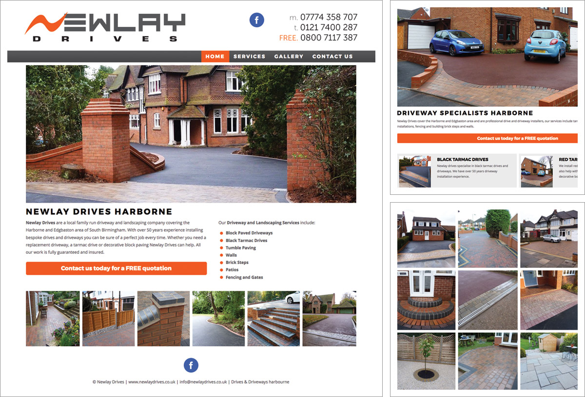 Newlay Drives Website