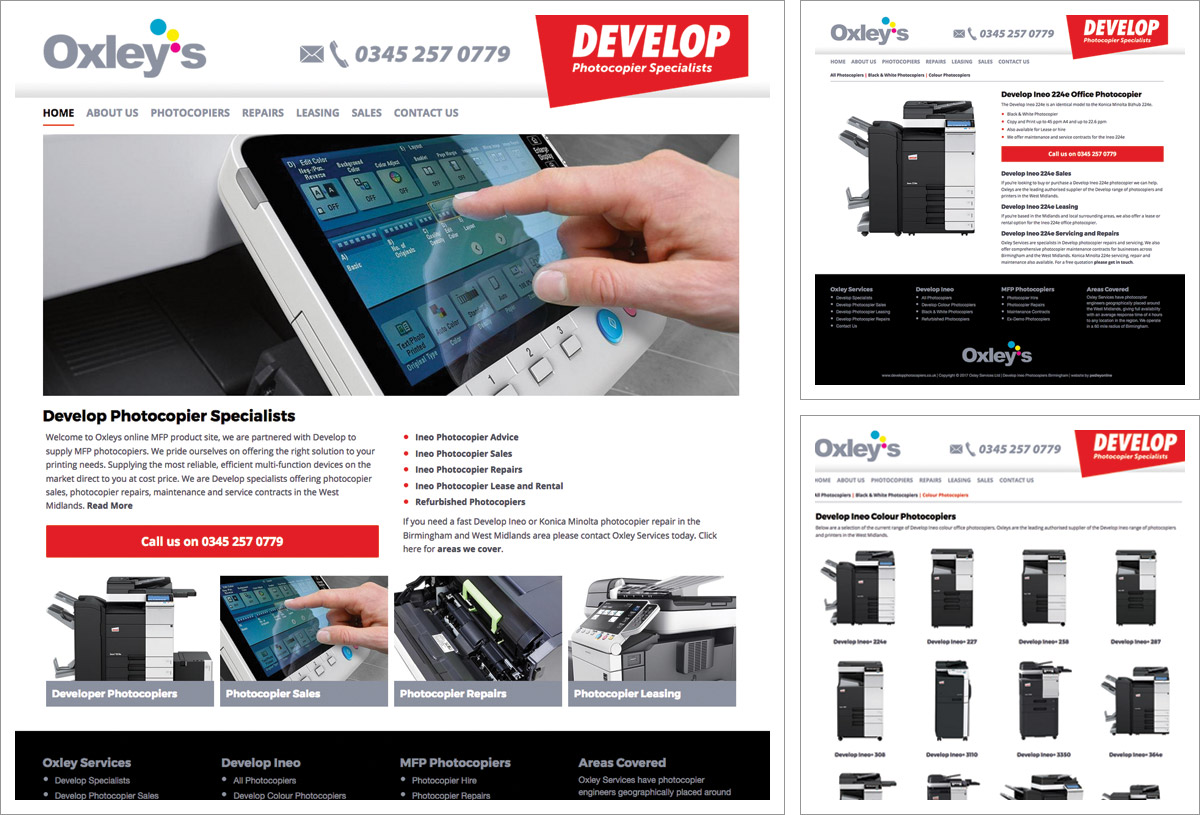 Develop Photocopiers Website