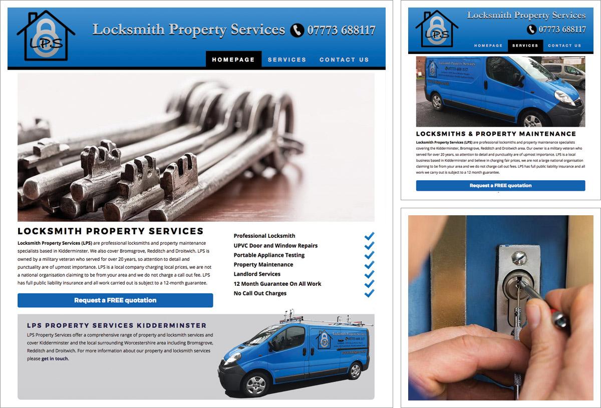 Locksmith Property Services Website