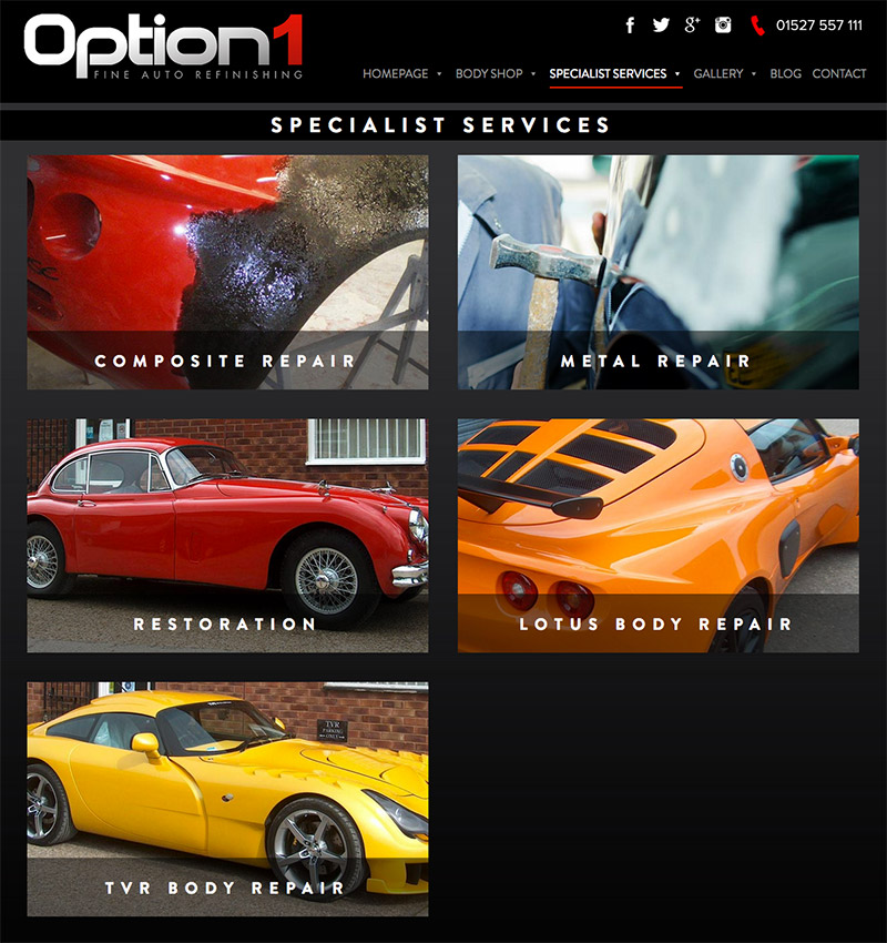 Automobile Vehicle Website Design