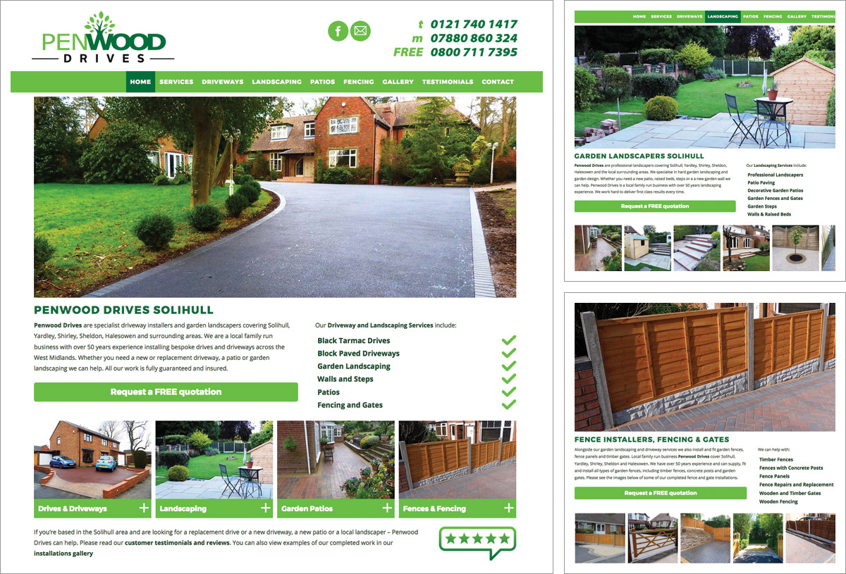 Penwood Drives Website