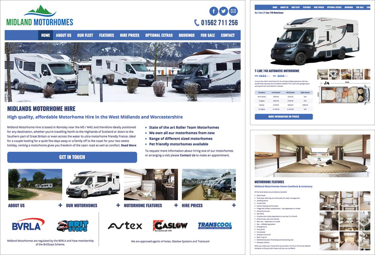 Midland Motor Homes Website