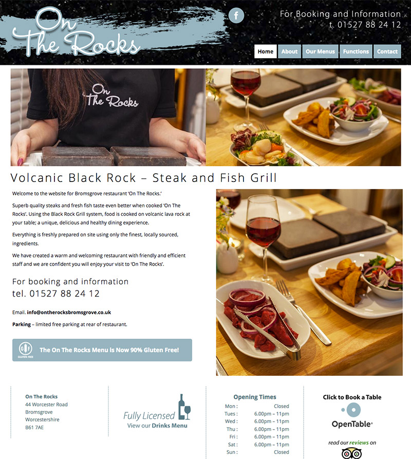 On The Rocks Website Bromsgrove