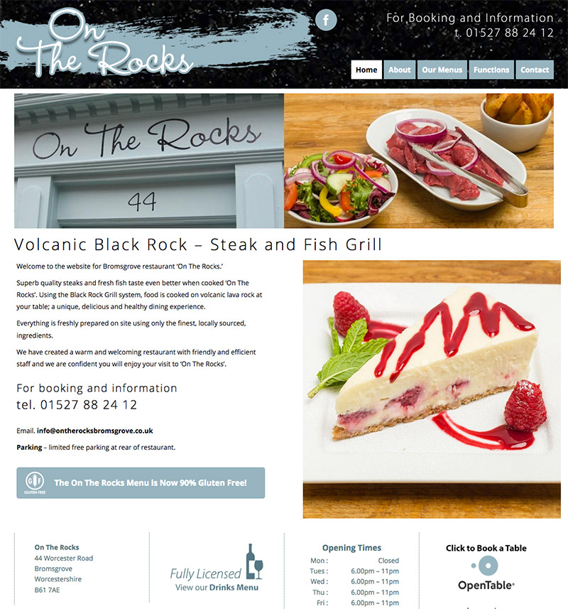 On The Rocks WordPress Website Bromsgrove