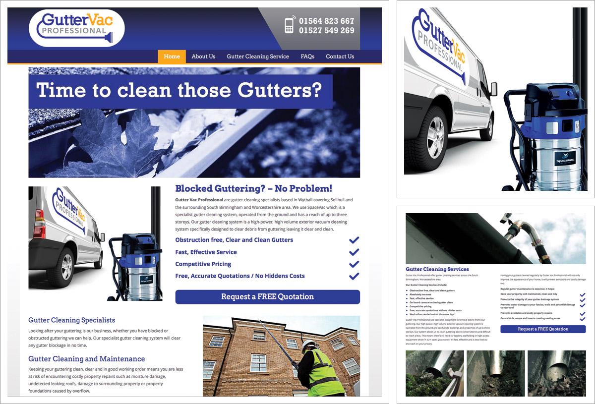 Gutter Vac Professional Website