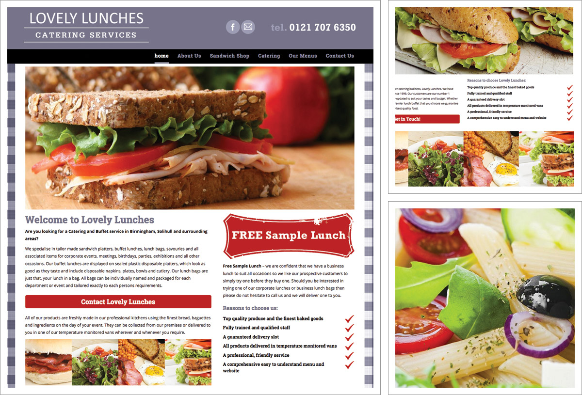 Lovely Lunches Website