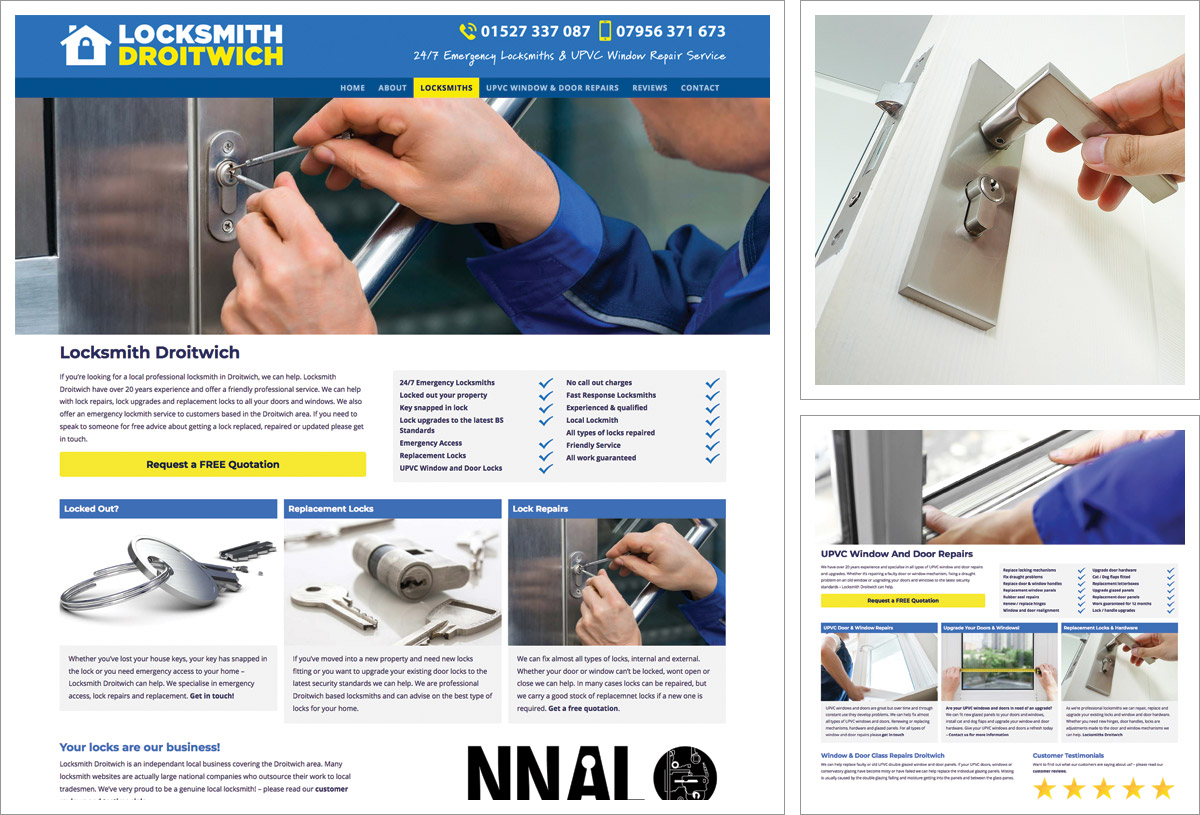 New website for Locksmith Droitwich