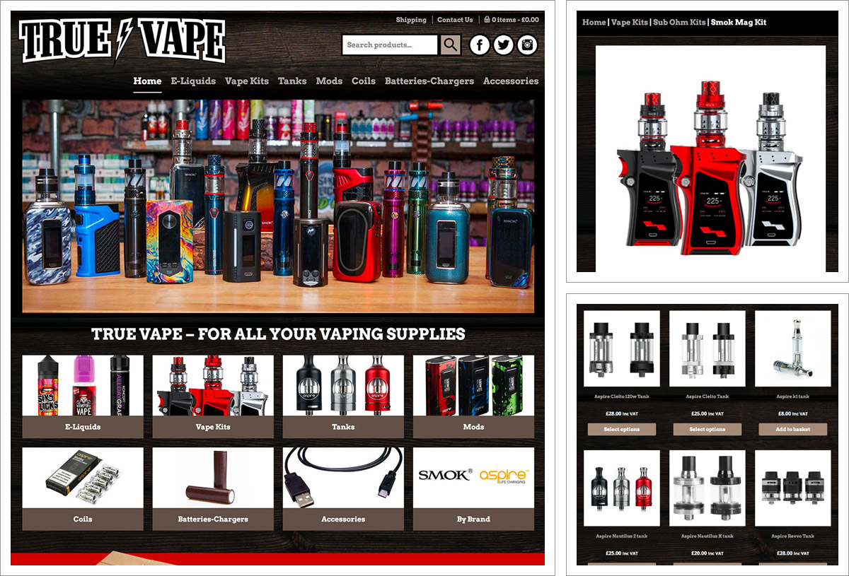 True Vape E-Commerce Website