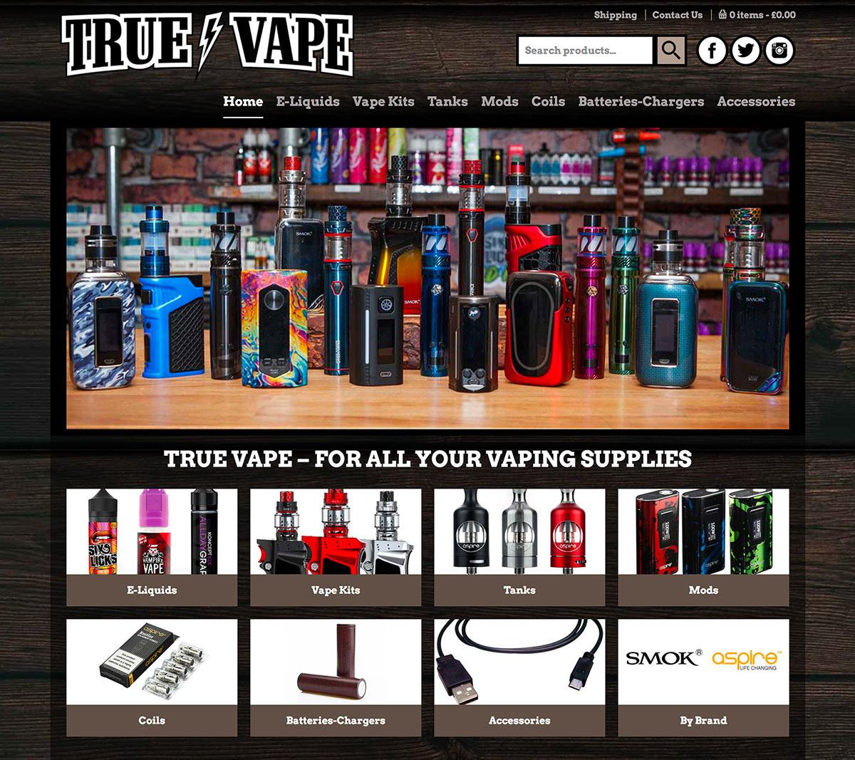 True Vape's new online web shop!
