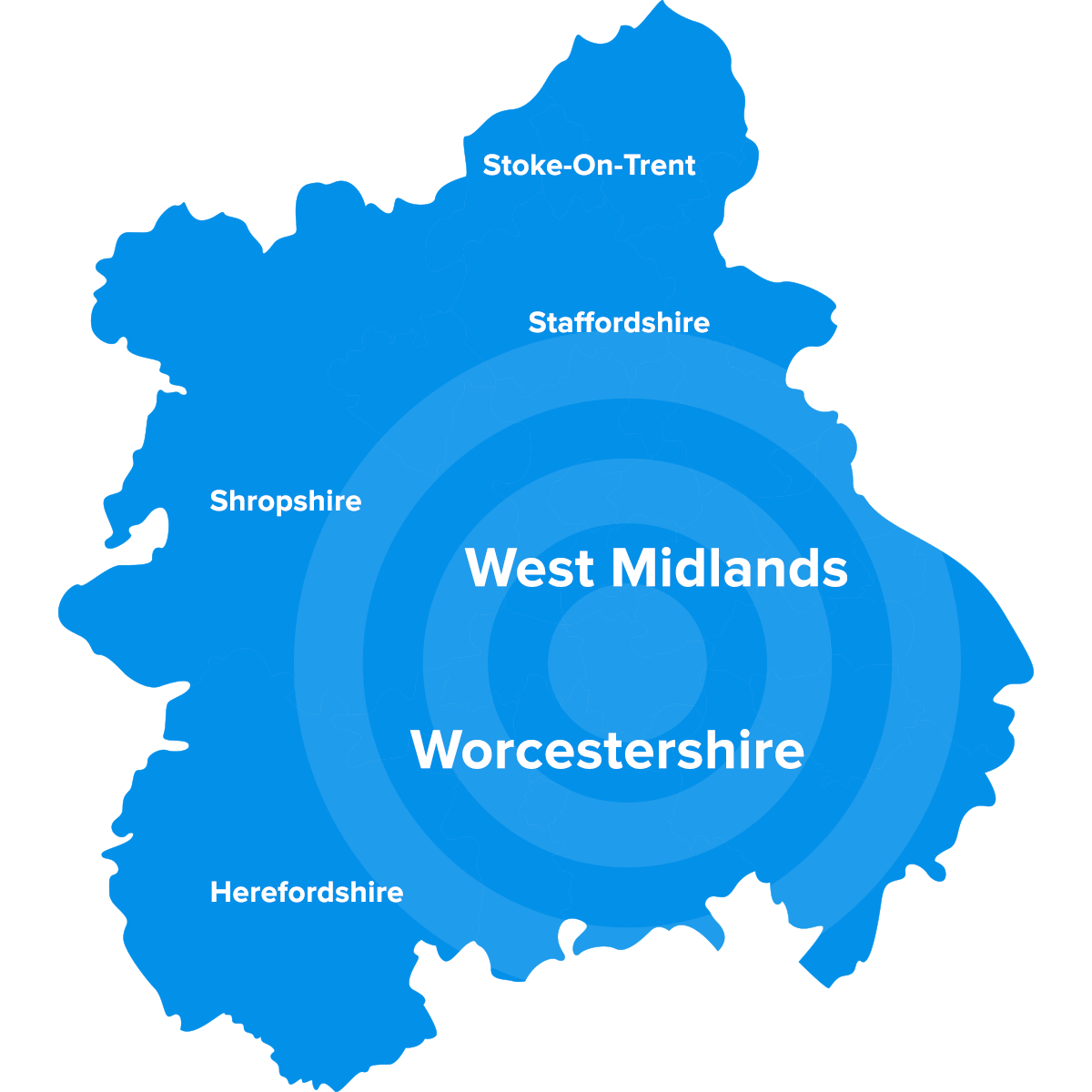 Pedleyonline Worcestershire West Midlands Map