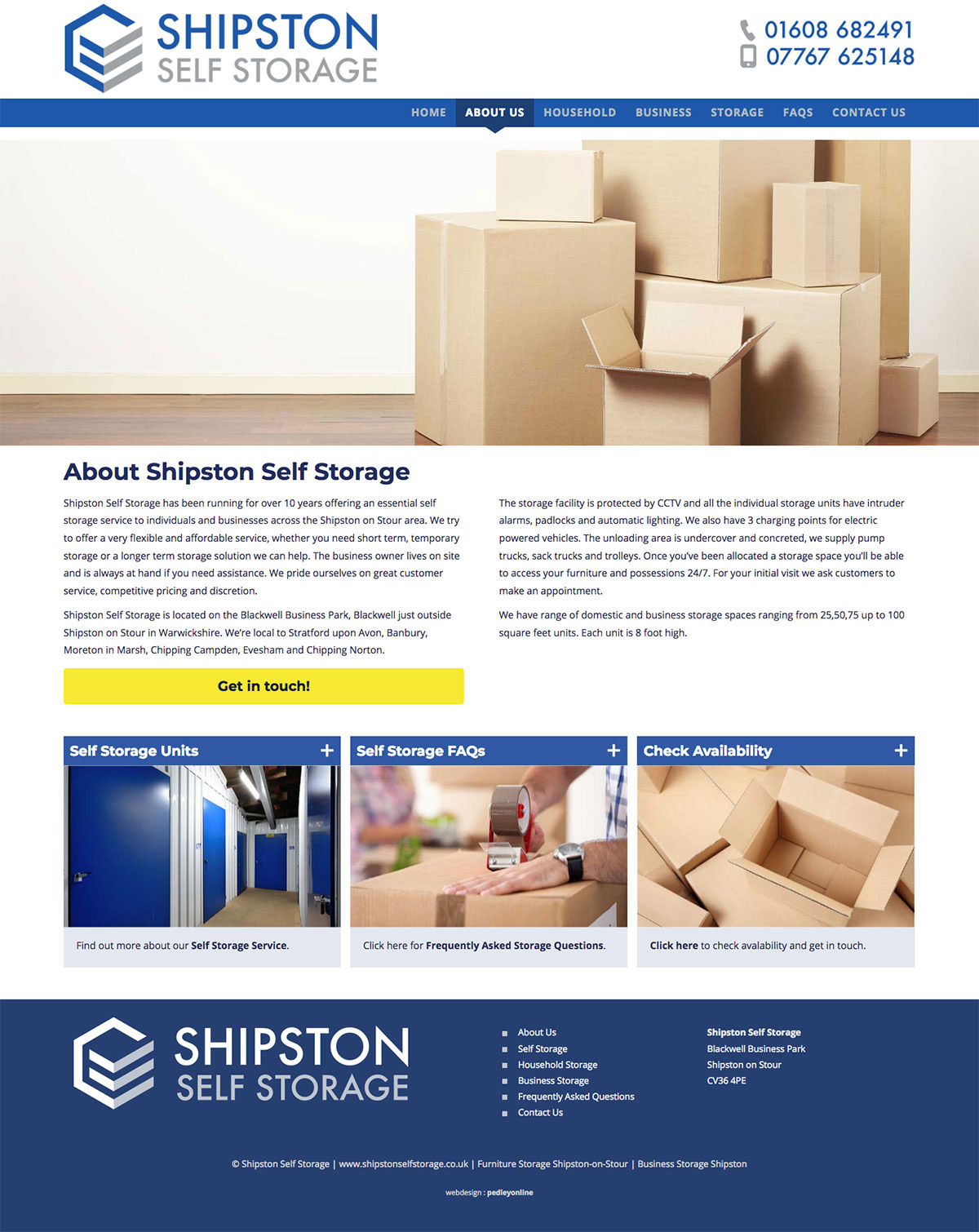 New website for Shipston Self Storage