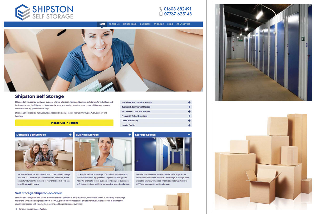 Shipston Self Storage Website