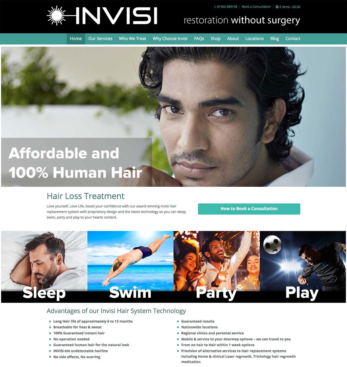 Invisi Hair Responsive Website