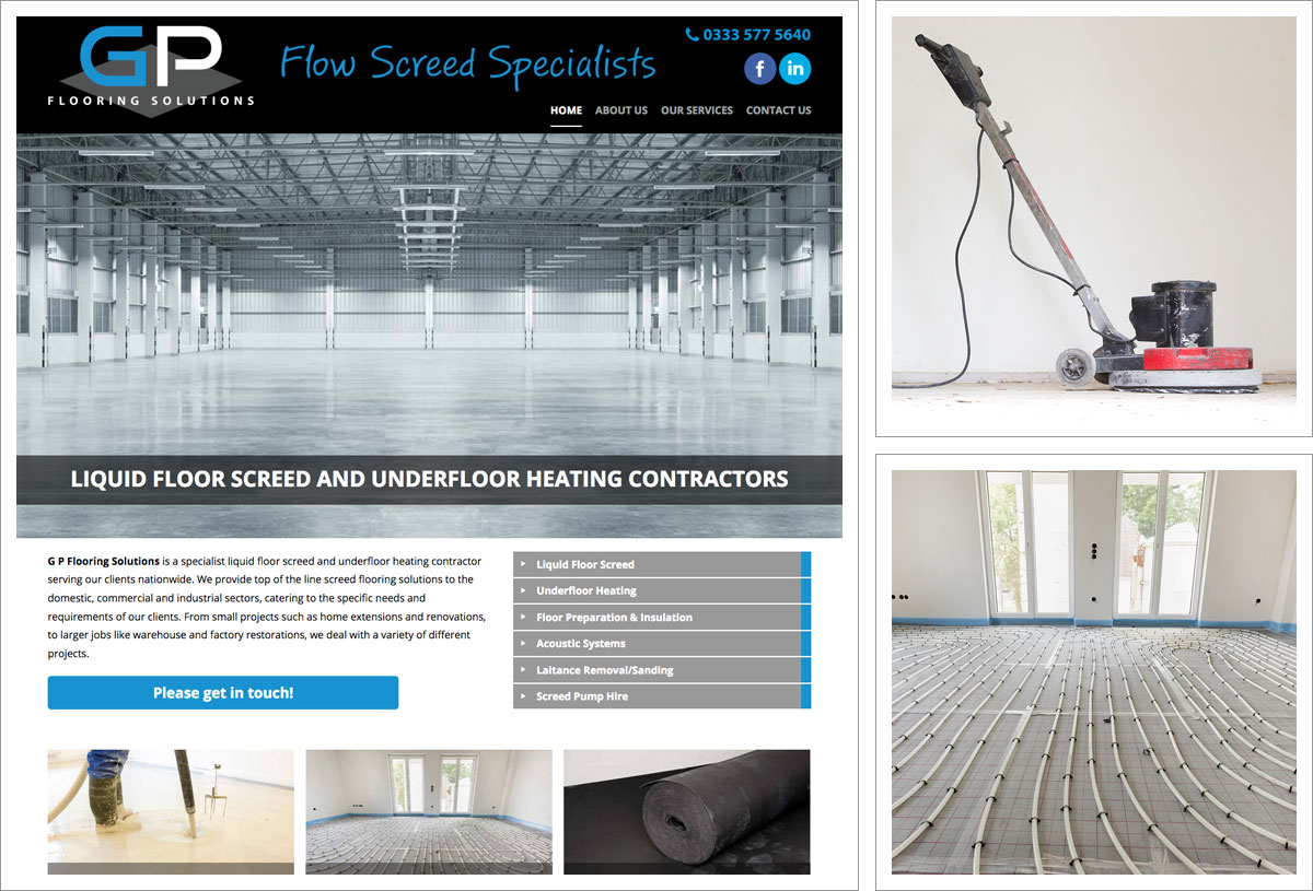 G P Flooring Solutions Website