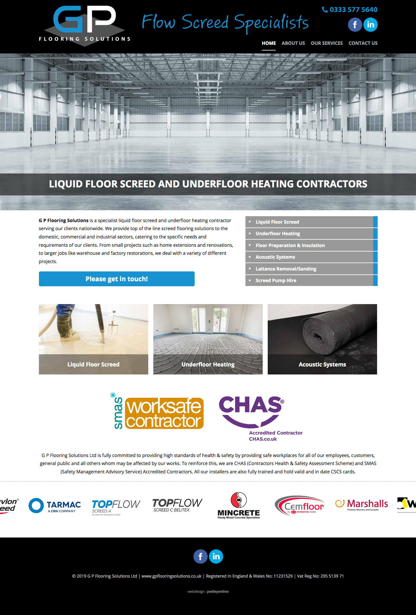 GP Flooring Solutions Website