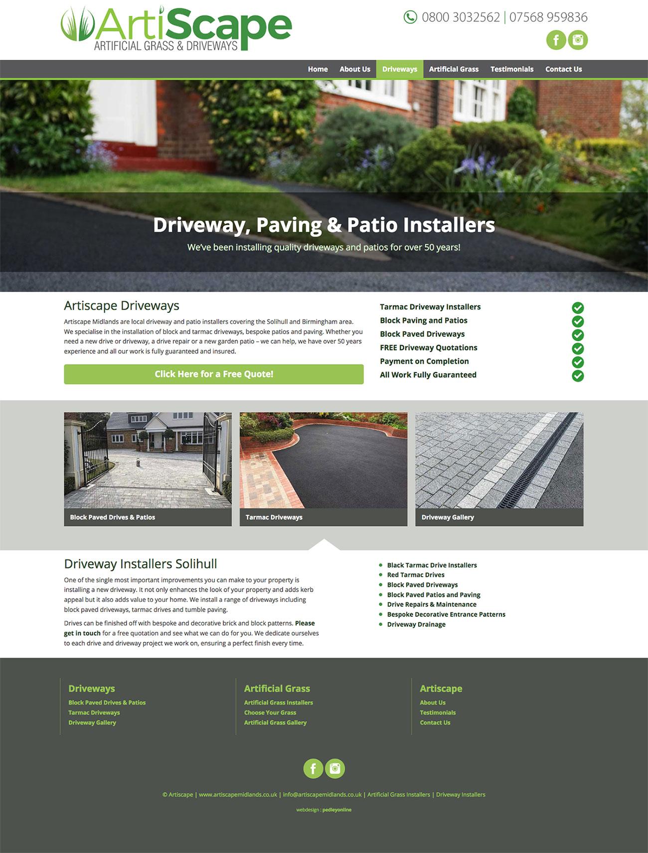 Artiscape Midlands Website
