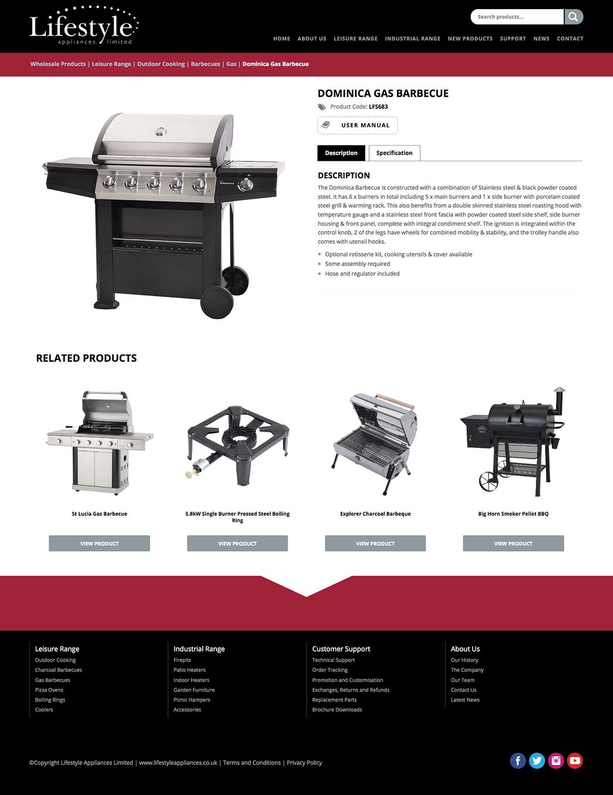 Lifestyle Appliances Online Brochure Website