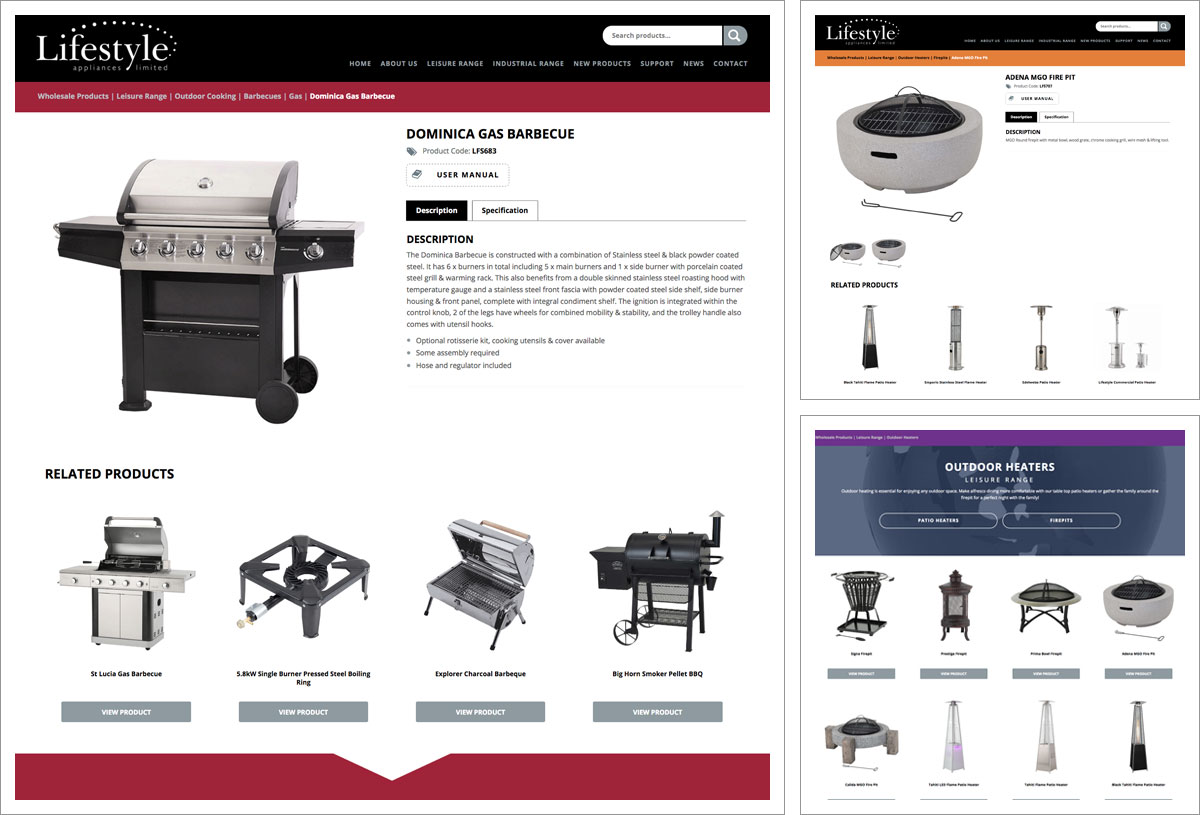 Lifestyle Appliances Website