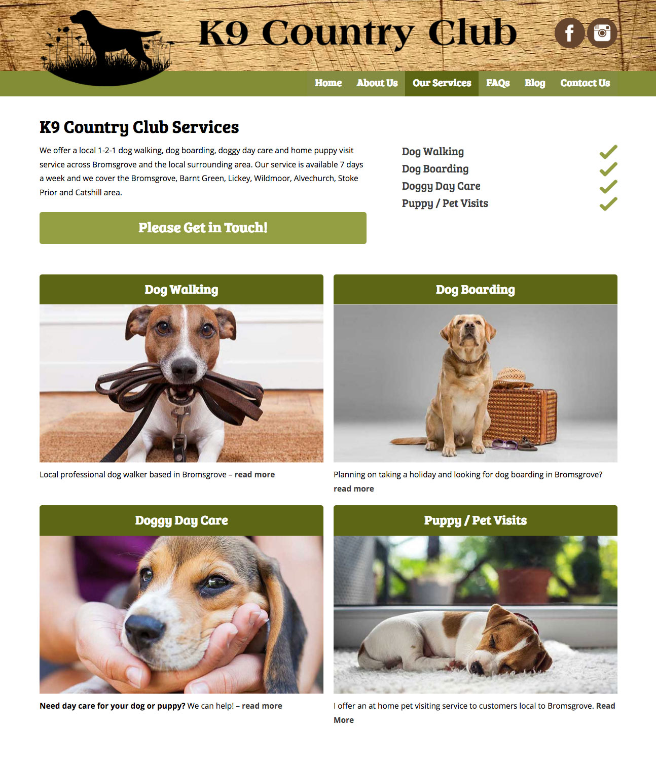 Dog Sitters and Dog Boarding Bromsgrove