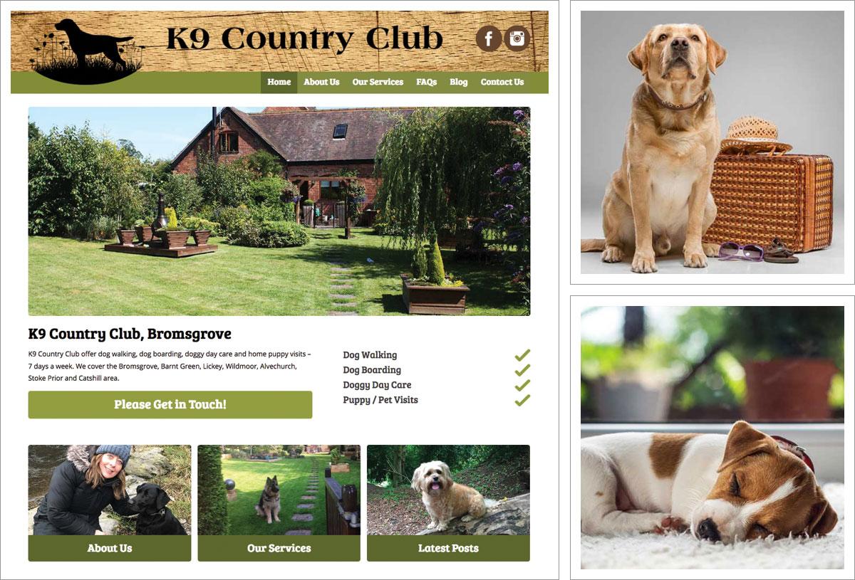 K9 Country Club Website, Bromsgrove