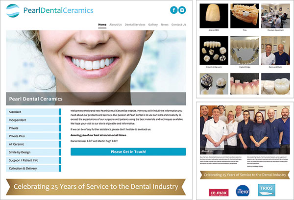 Pearl Dental Ceramics Website