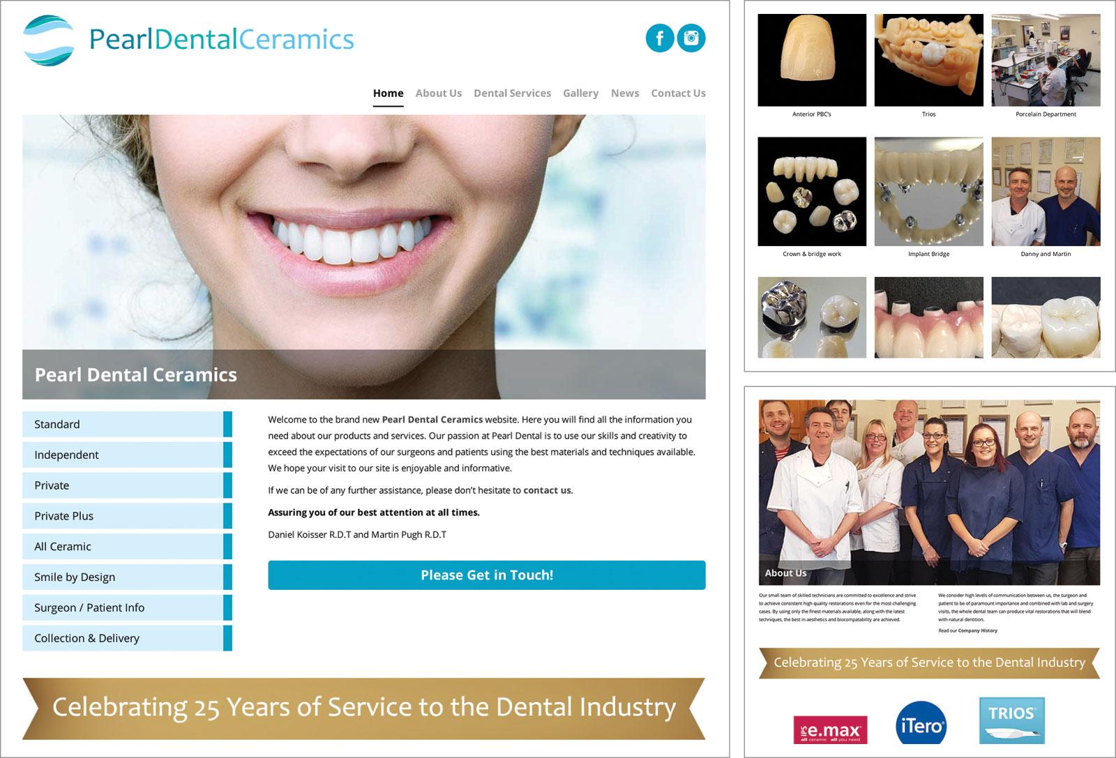 Pearl Dental Ceramics Website