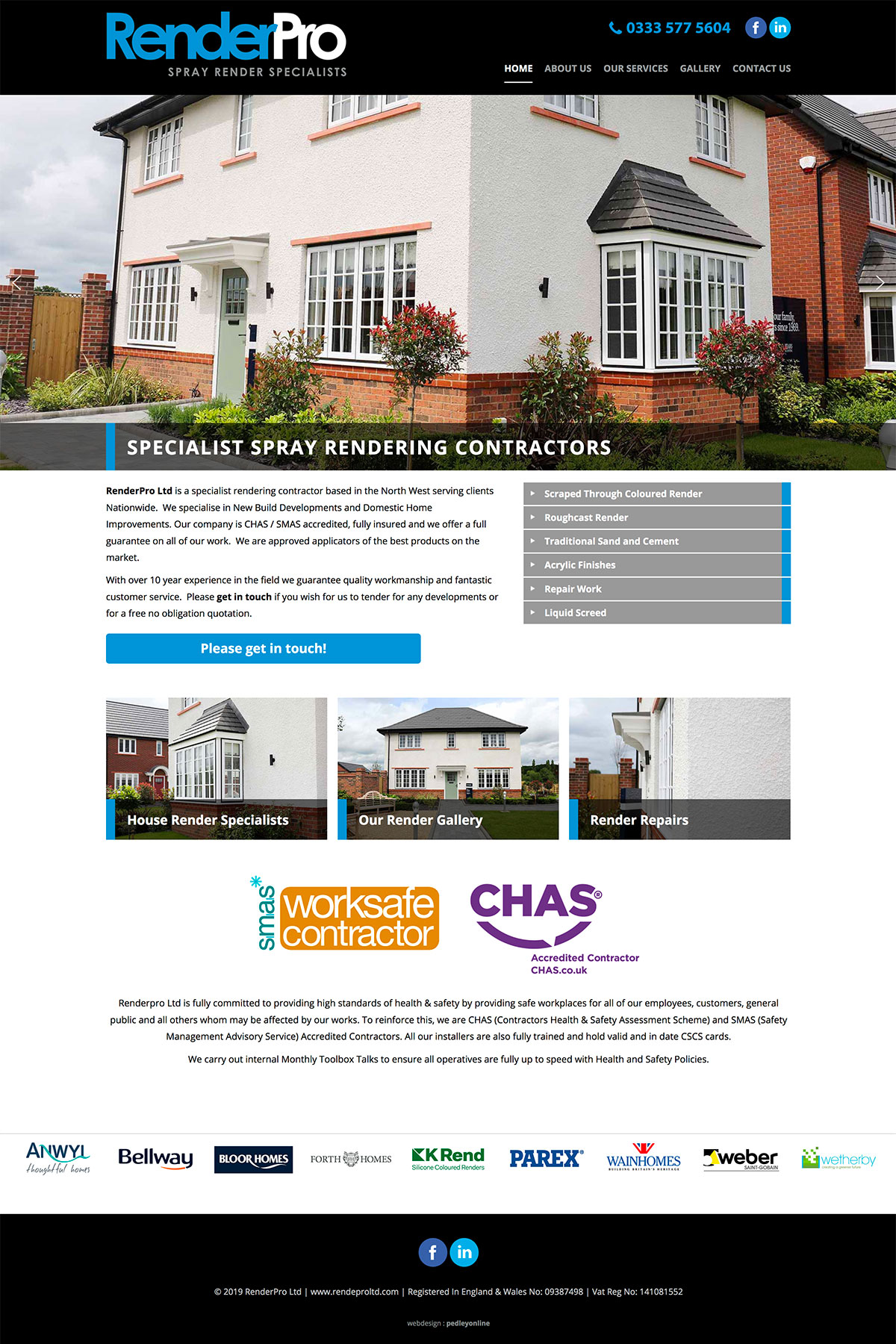 Render Pro Ltd Brochure Website