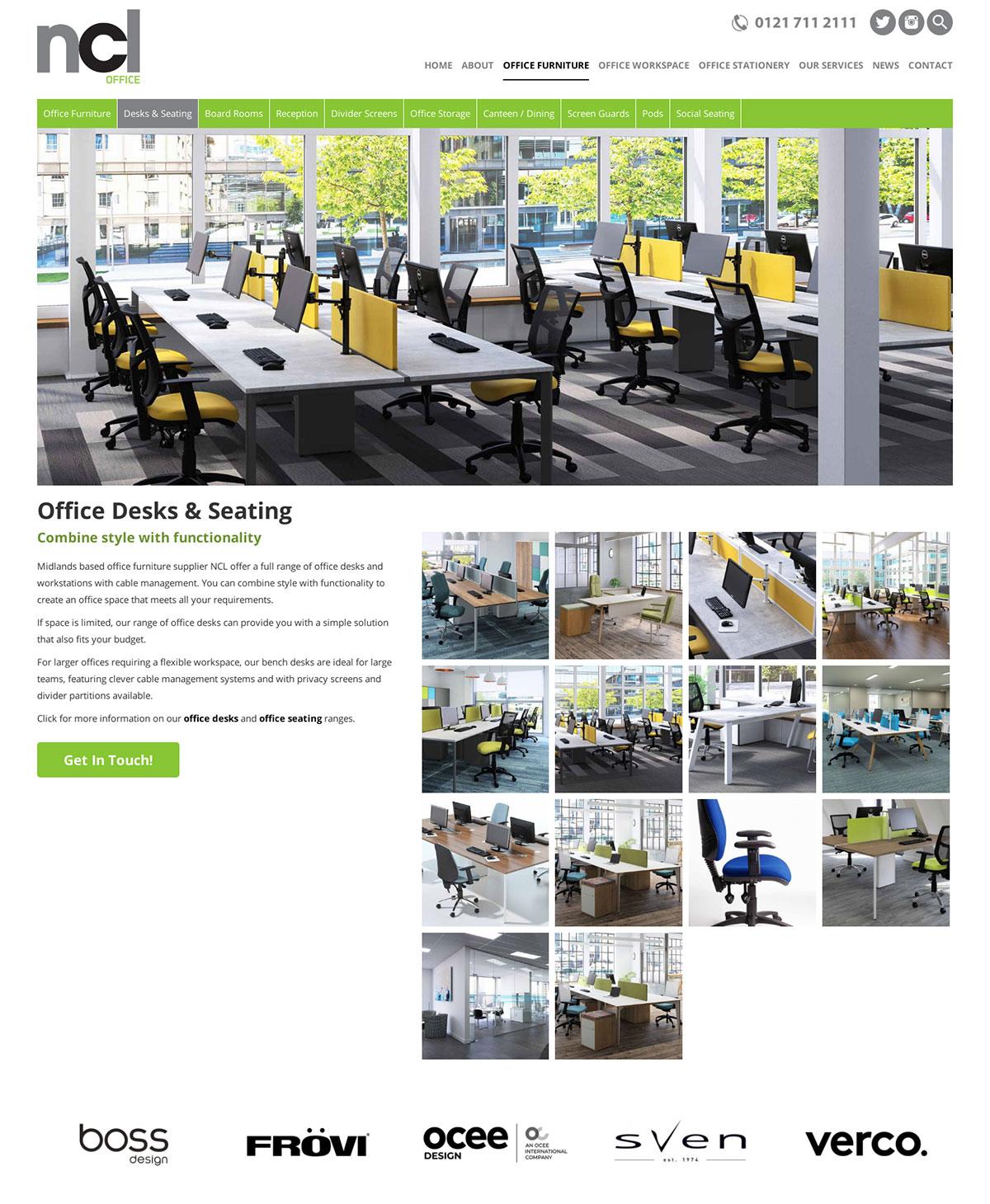 NCL Office Website Birmingham