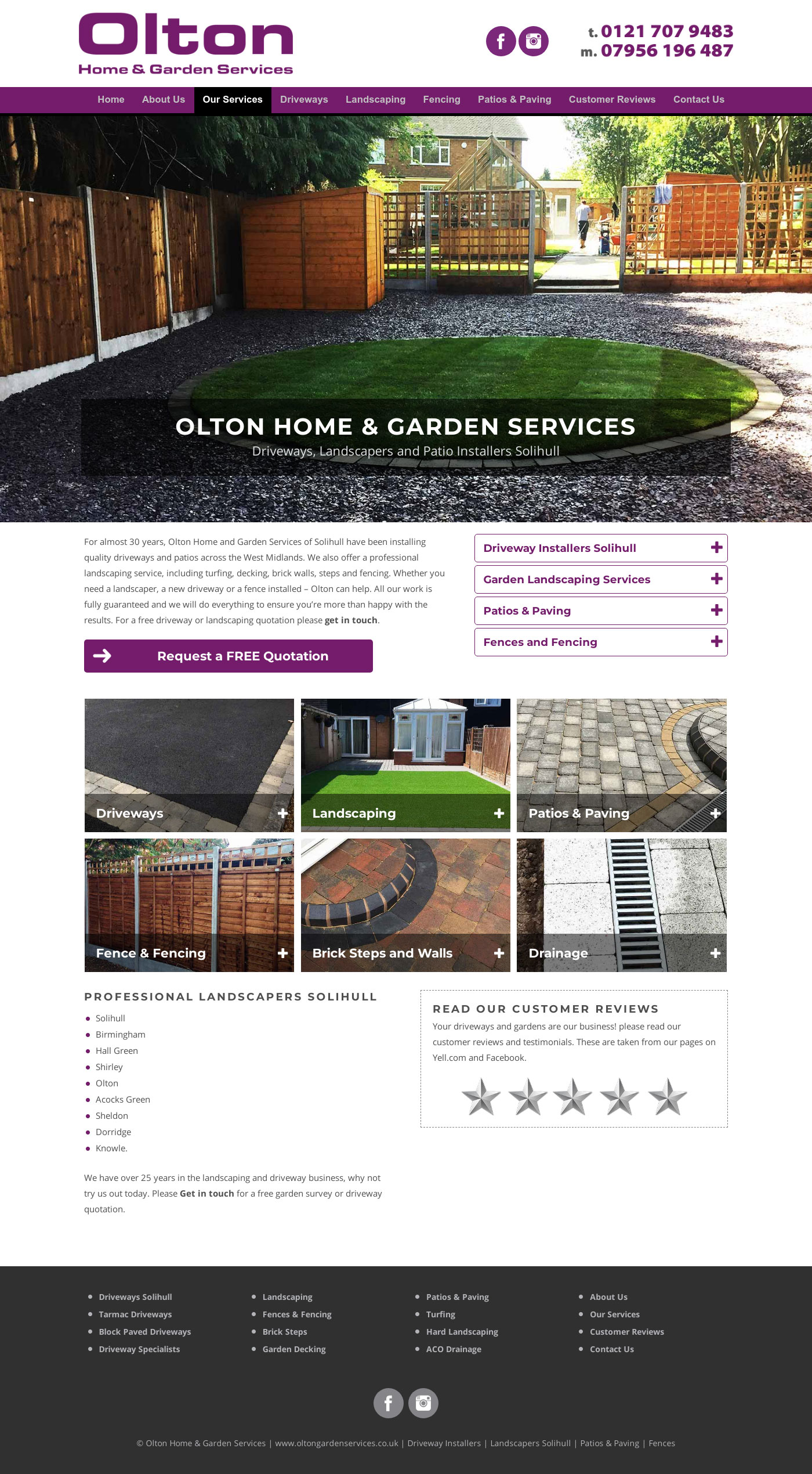 New website for Olton Garden Services, Solihull