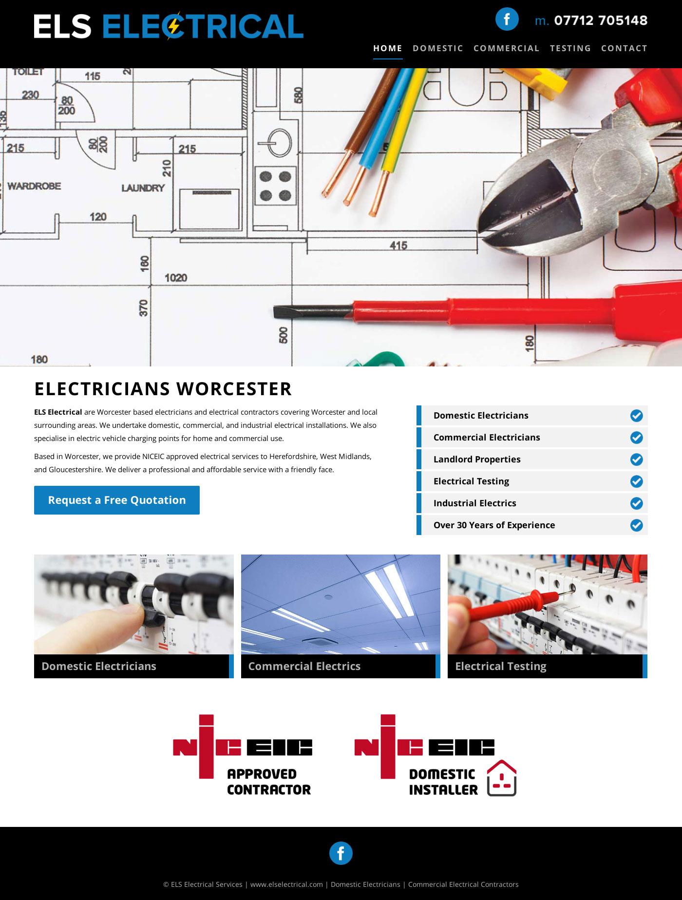 Electrician Websites Worcester