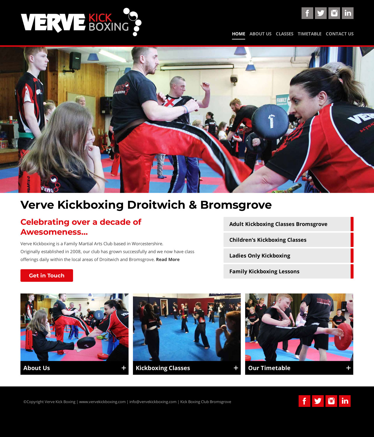 Verve Kickboxing Bromsgrove and Droitwich