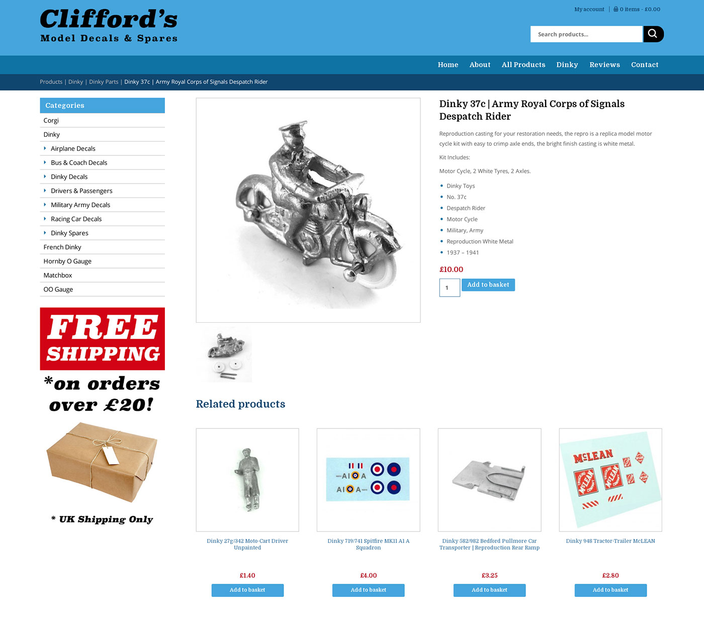 Clifford's Model Decals and Spares