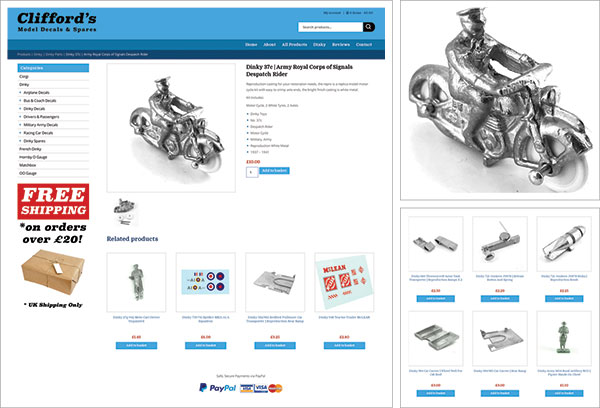 Model Decals and Spares Website