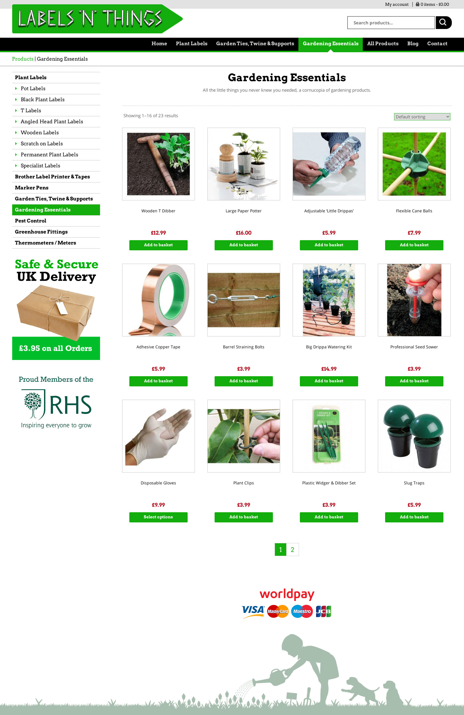 Labelsnthings e-commerce website Bromsgrove