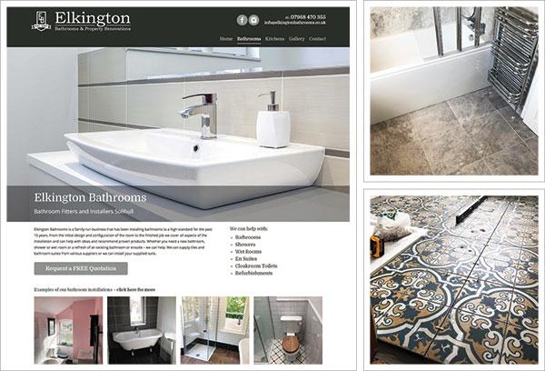 Elkington Bathrooms Website